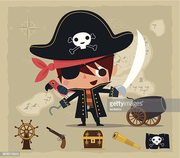 little pirate - pirate boat stock illustrations, clip art, cartoons, & icons