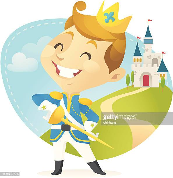 little prince - prince royal person stock illustrations