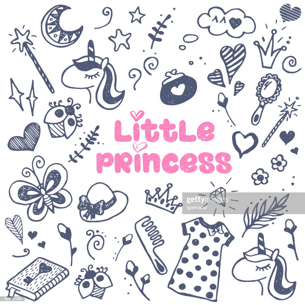 Little princess attributes set