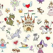 Little princess seamless pattern