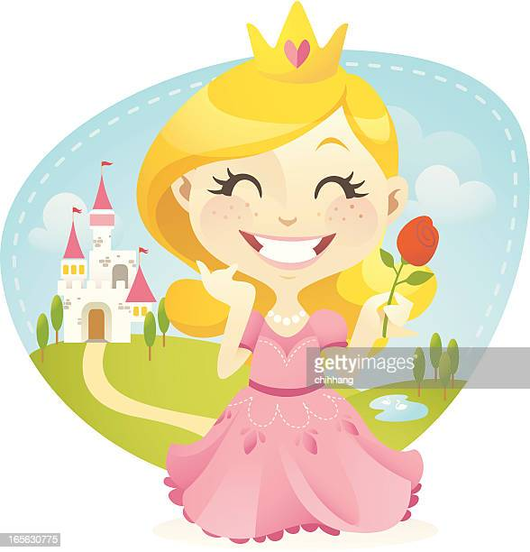 little princess - princess stock illustrations