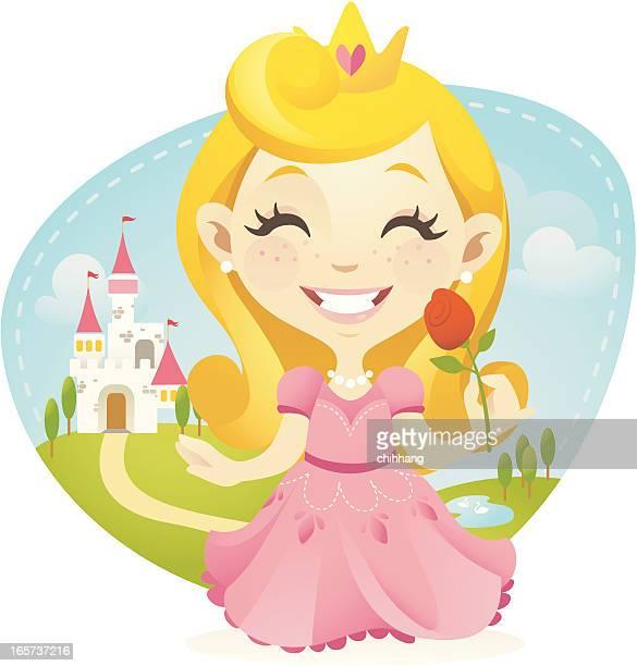little princess - princess stock illustrations, clip art, cartoons, & icons