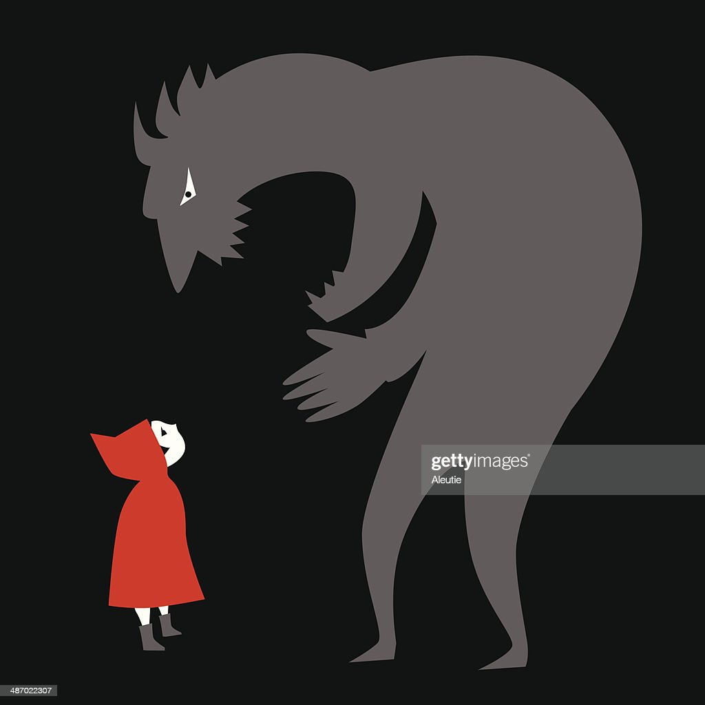 Little Red Riding Hood and a predator