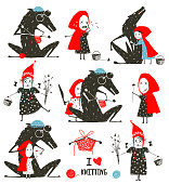 Little Red Riding Hood and Wolf Fairytale Collection