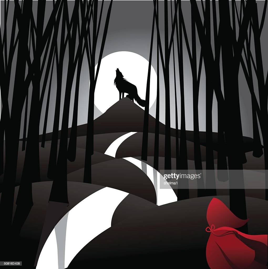 Little Red Riding Hood fairy tale depiction