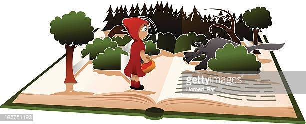 little red riding hood - little red riding hood stock illustrations, clip art, cartoons, & icons