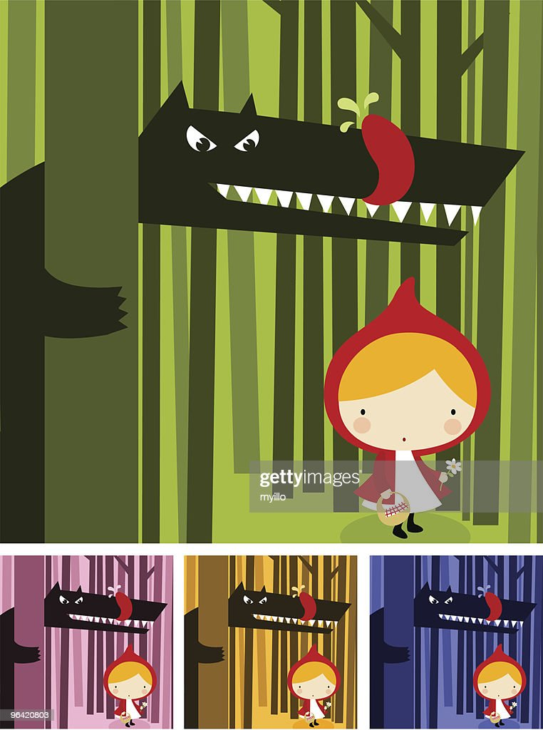 Little Red Riding Hood : Stockillustraties