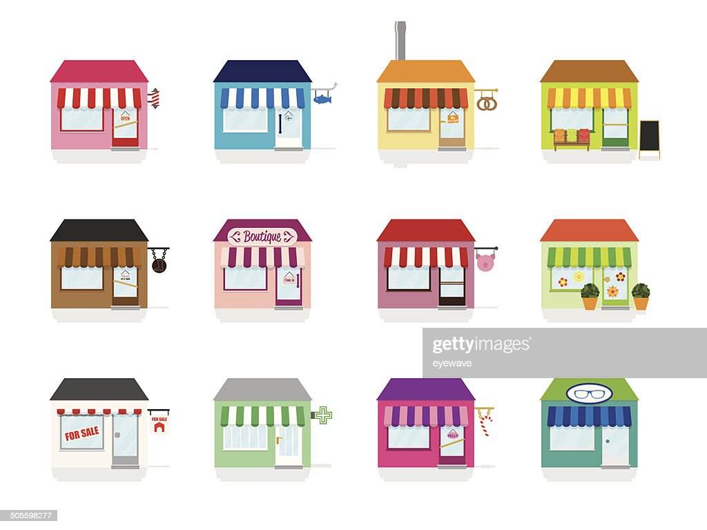 Little Shop Icons Vector Illustration