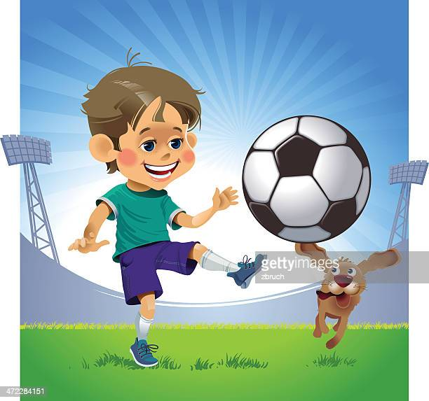 little soccer player - 8 9 years stock illustrations, clip art, cartoons, & icons
