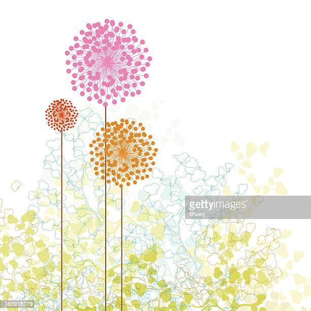ilustrações, clipart, desenhos animados e ícones de pequeno jardim primavera - flowerbed