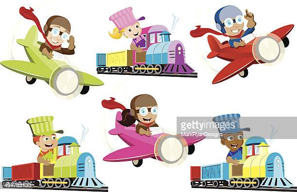 Little Train Conductors and Pilots