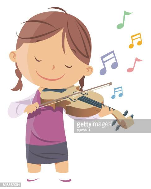 little violinist - orchestra stock illustrations, clip art, cartoons, & icons