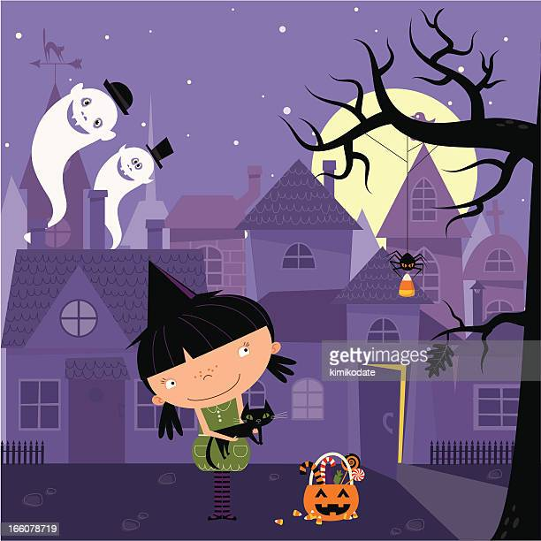 little witch - small stock illustrations, clip art, cartoons, & icons