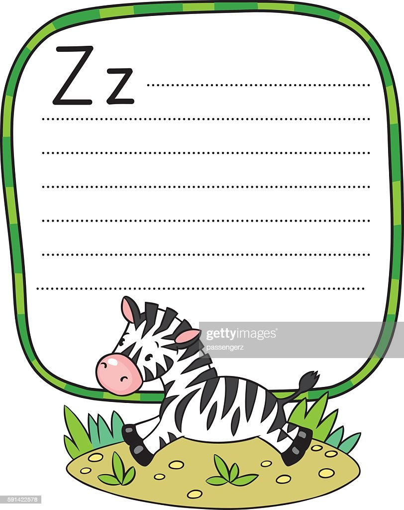 Little Zebra for ABC. Alphabet Z