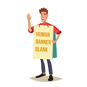 Live Advertising And Entertainment Vector. Shouting At The Strike Action. Expressing Active Position For Rights. Flat Cartoon Illustration