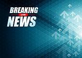 Live Breaking News headline in green color pixels background