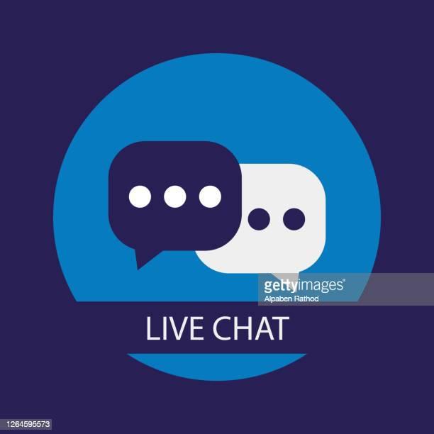 illustrazioni stock, clip art, cartoni animati e icone di tendenza di concetto di bolle vocali della chat dal vivo. illustrazione stock vettoriale - reggere