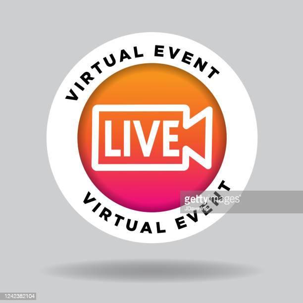 ライブアイコン - バーチャルイベント点のイラスト素材/クリップアート素材/マンガ素材/アイコン素材