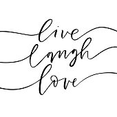 Live, laugh, love card.
