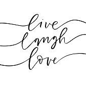 Live, laugh, love card.