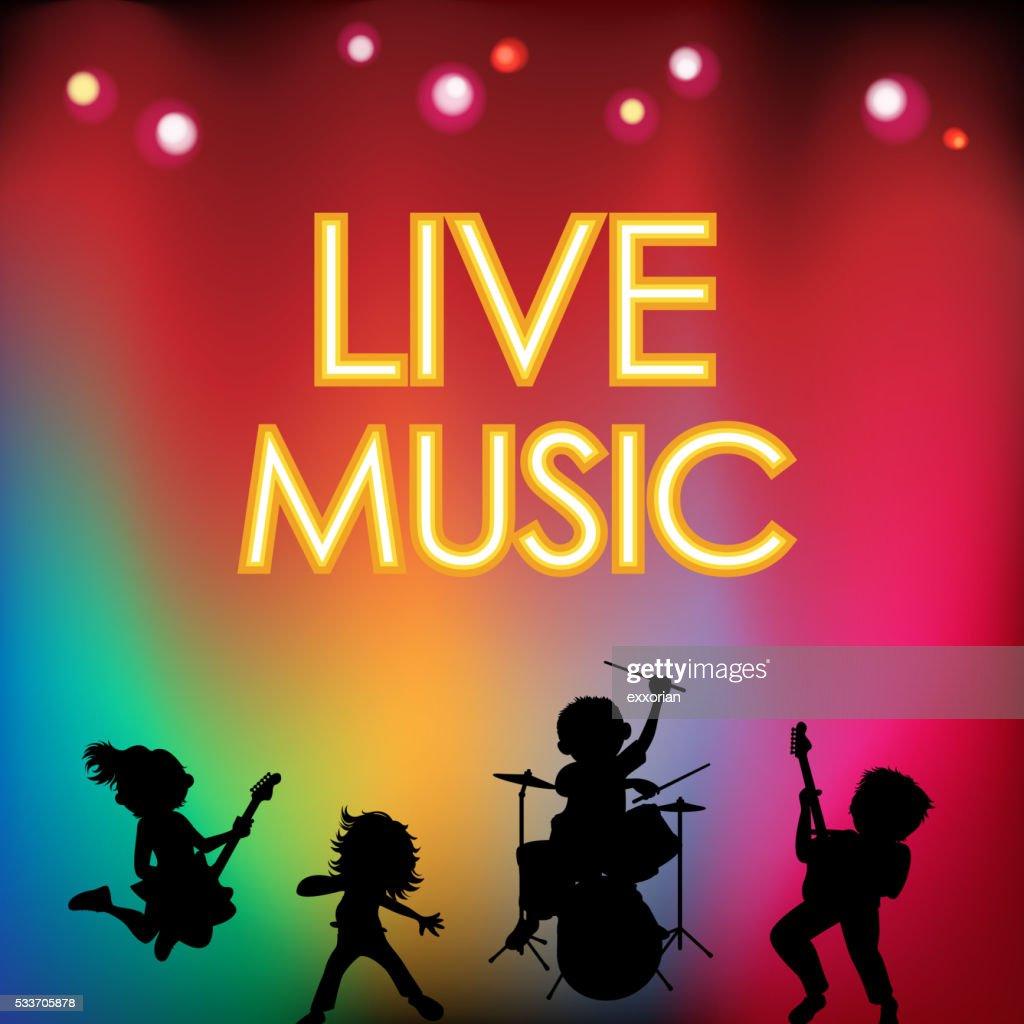 Festival di musica dal vivo : Illustrazione stock