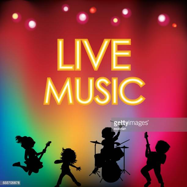 live music festival - stage light stock illustrations