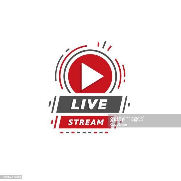 ilustrações de stock, clip art, desenhos animados e ícones de live stream emblem - desfile de moda