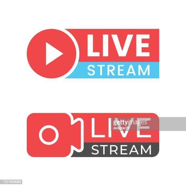 live stream icon vector design. - live event stock illustrations