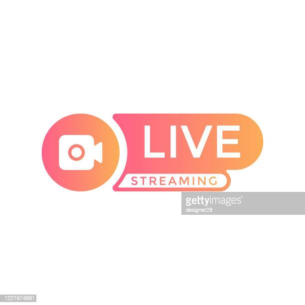 live stream logo vector design. - stream stock illustrations