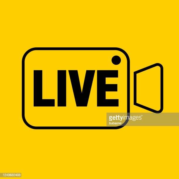 live video stream icon - live broadcast stock illustrations