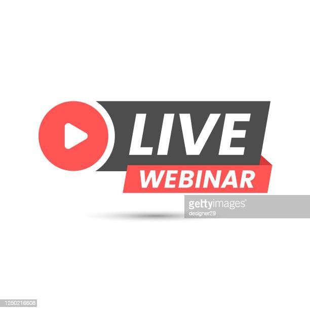 live webinar icon flat design. - vitality stock illustrations