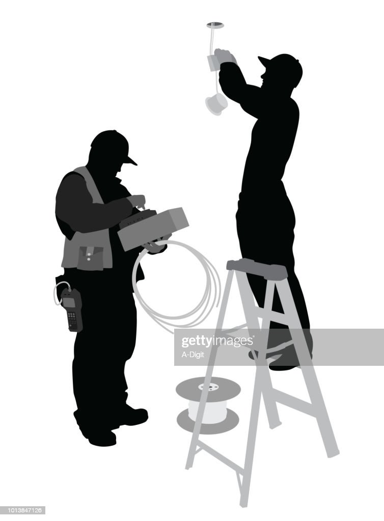 Live Wire Electricians : stock illustration