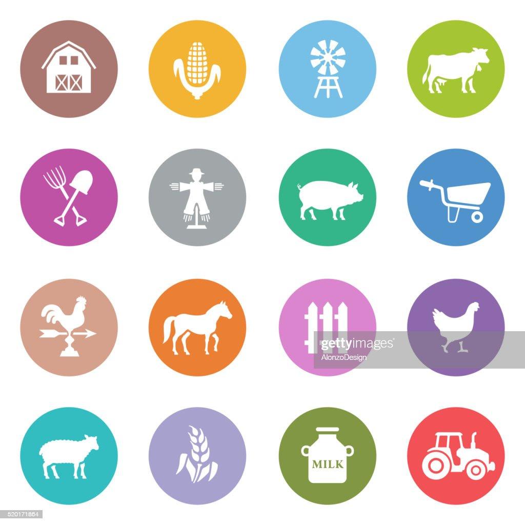 Livestock Icons : stock illustration
