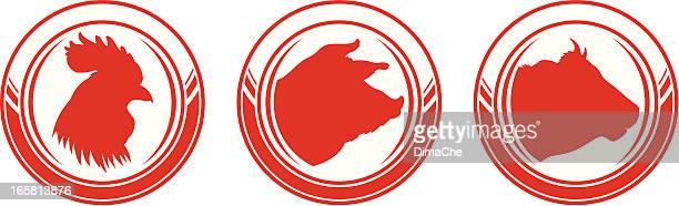 ilustraciones, imágenes clip art, dibujos animados e iconos de stock de ganado - beef pie