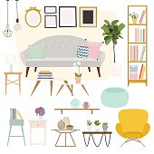 Living room. Furniture and Home Accessories, including sofas, lo