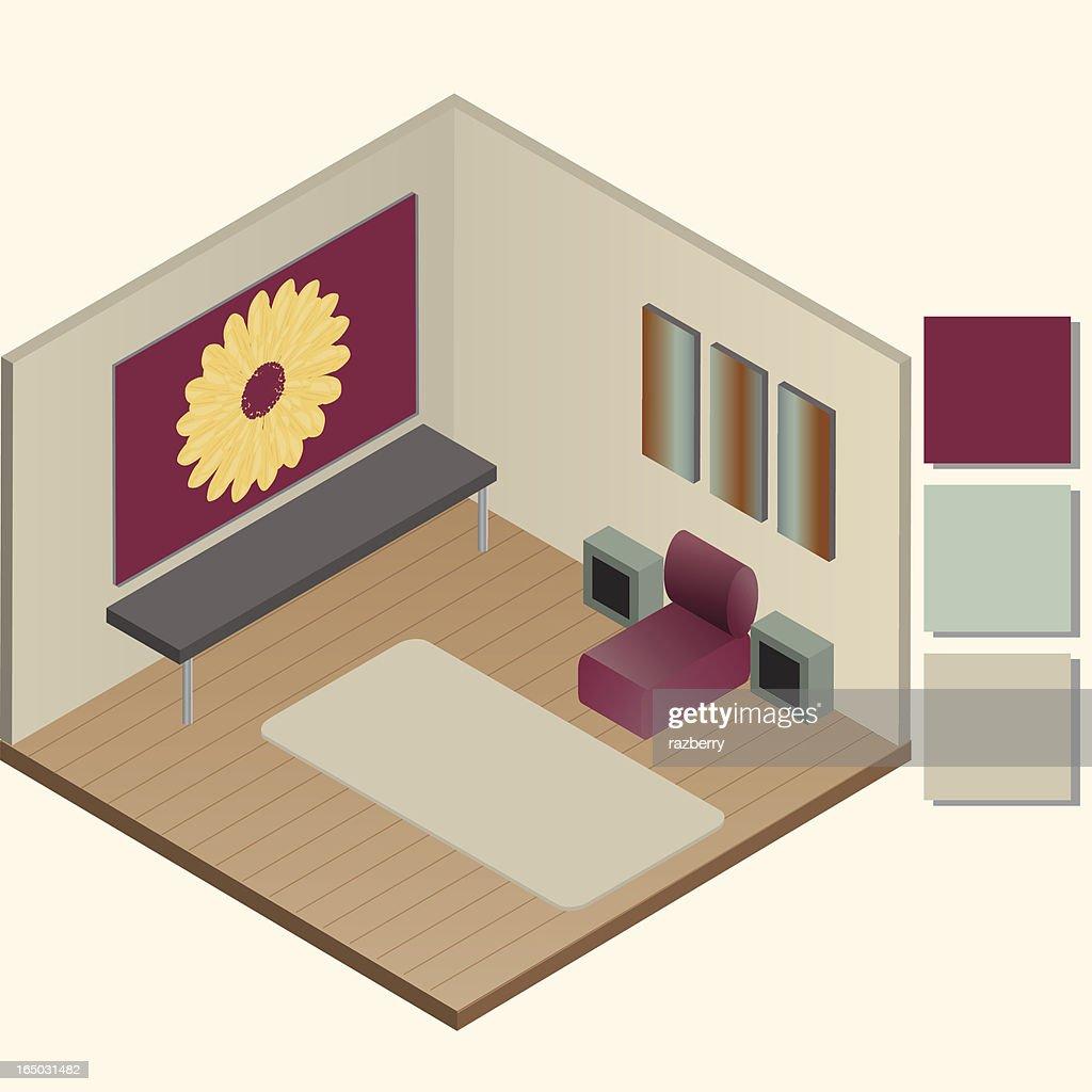 Living Room (vector) : Vector Art