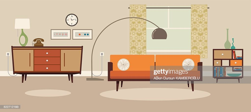 Living room : Stock Illustration