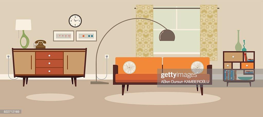 Sala de estar : Ilustración de stock