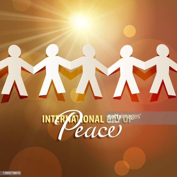 平和に共に暮らす - 紙人形点のイラスト素材/クリップアート素材/マンガ素材/アイコン素材