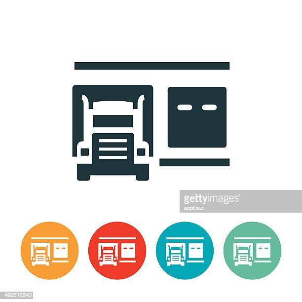 積荷ドックのアイコン - 荷積み場点のイラスト素材/クリップアート素材/マンガ素材/アイコン素材