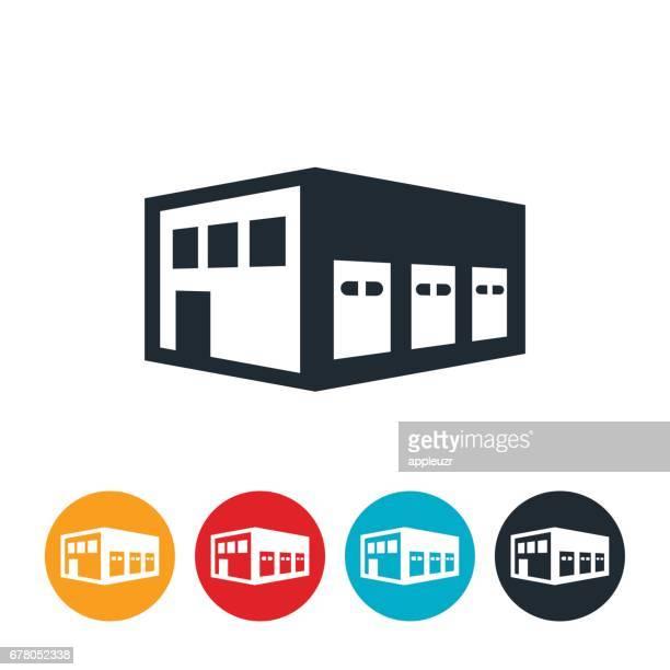 ドック倉庫アイコンを読み込む - 荷積み場点のイラスト素材/クリップアート素材/マンガ素材/アイコン素材