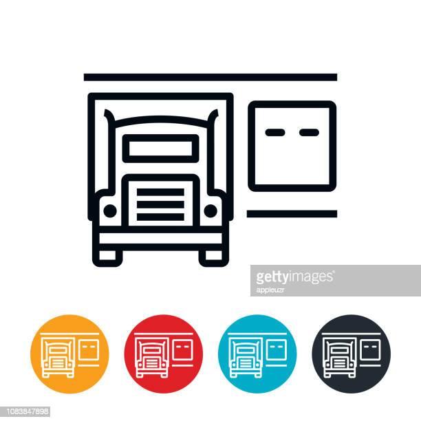 半アイコンとドックの読み込み - 荷積み場点のイラスト素材/クリップアート素材/マンガ素材/アイコン素材