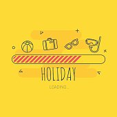 Loading holiday - Illustration with flat icons