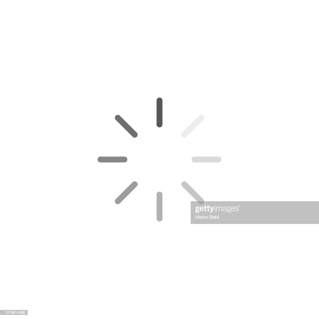 Loading icon. Vector flat design