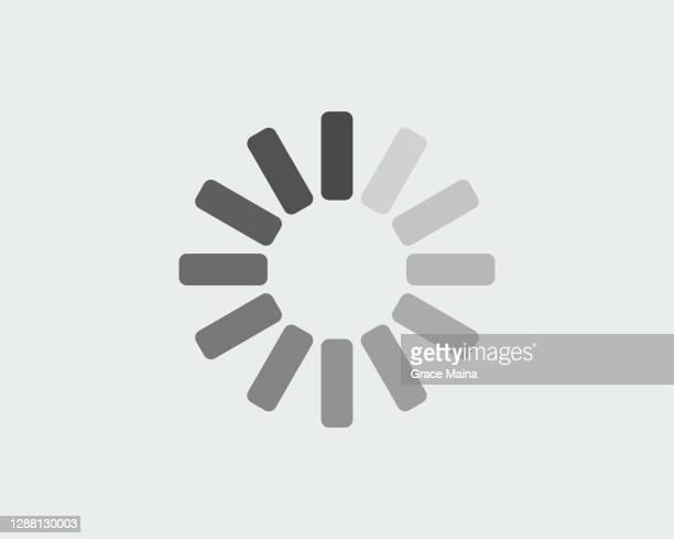 白黒のロード進行状況円 - 遅い点のイラスト素材/クリップアート素材/マンガ素材/アイコン素材