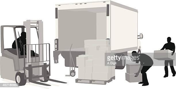 loadingunloading - フォークリフト点のイラスト素材/クリップアート素材/マンガ素材/アイコン素材