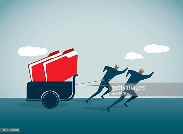 ilustraciones, imágenes clip art, dibujos animados e iconos de stock de la carga - tarjeta de archivo