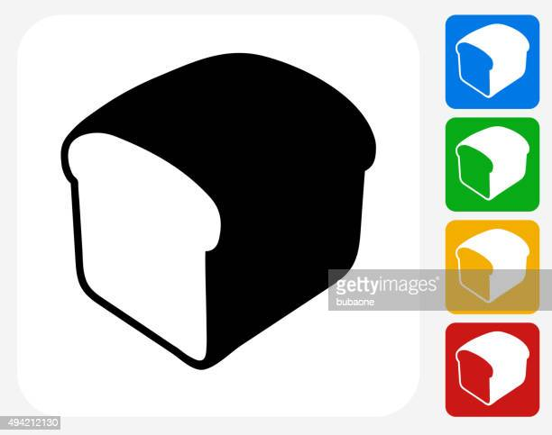 loaf of bread icon flat graphic design - pastry dough stock illustrations, clip art, cartoons, & icons