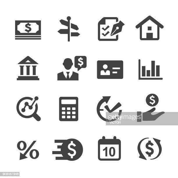 loan and finance icons - acme series - legal document stock illustrations, clip art, cartoons, & icons