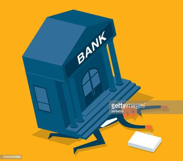 loan - businessman - broken stock illustrations, clip art, cartoons, & icons
